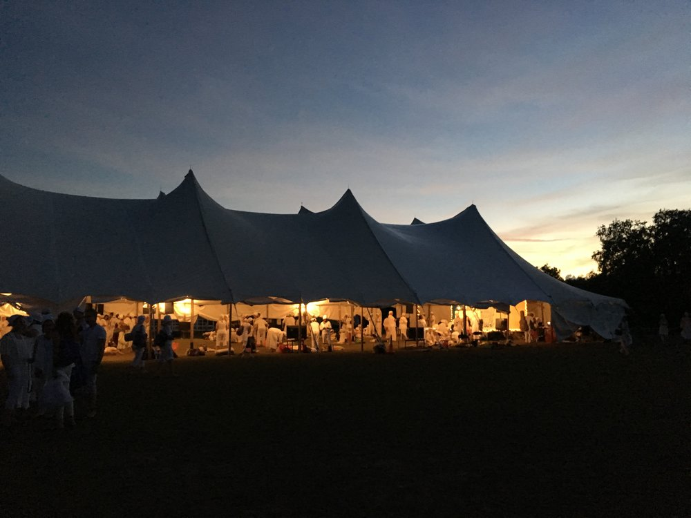 Sun setting just past the Tantric tent.
