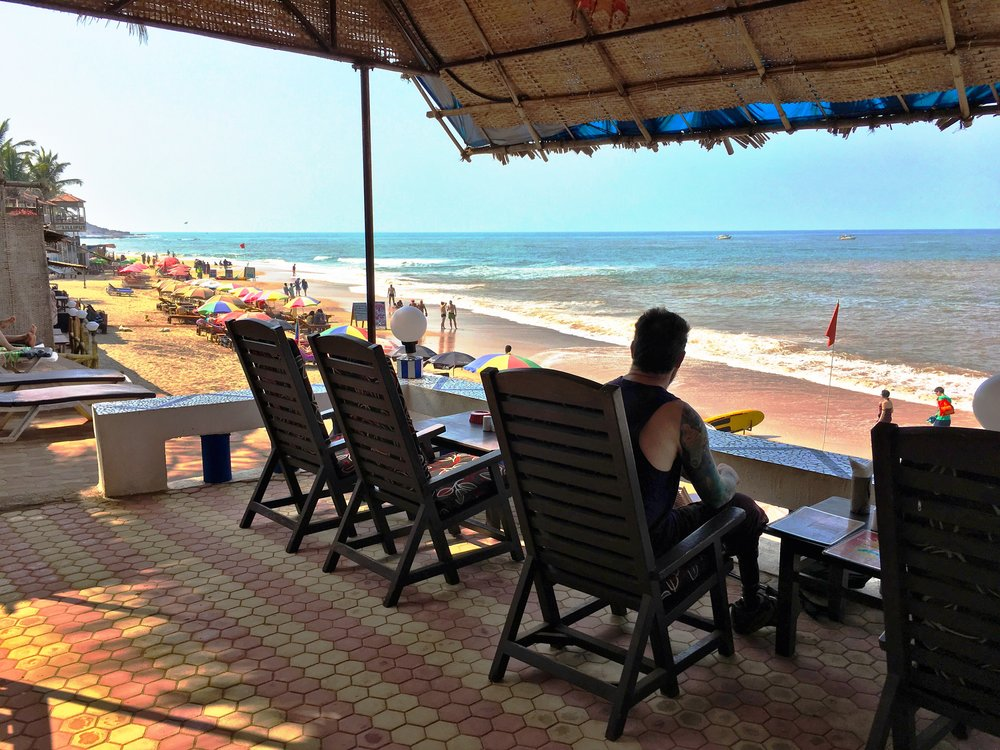 Sunset Guesthouse Anjuna Beach view