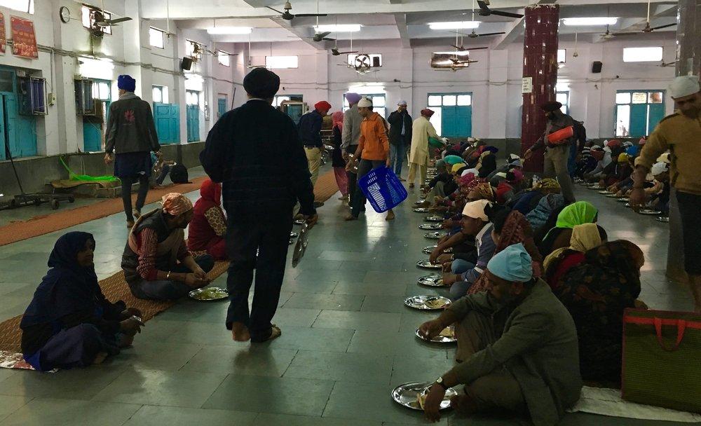 Sikh Gurdwara Delhi India Langar