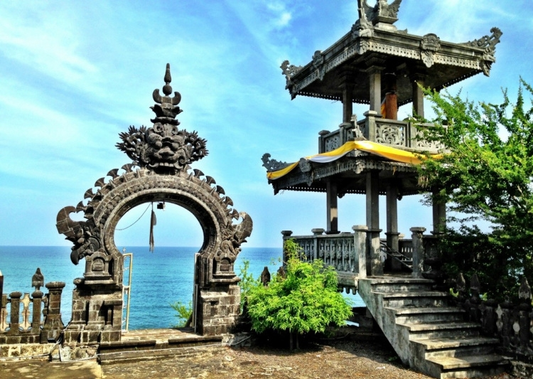 Beautiful temple in Pemuteran, Bali, Indonesia.