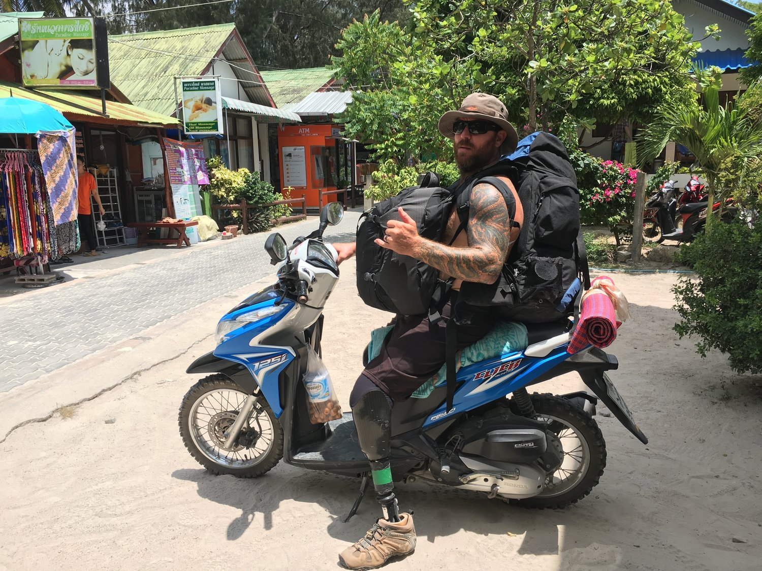 For half the price of a cab to transport your luggage to your hotel, in Thailand you can rent a motorbike for the whole day and transport it yourself.  Then go explore!  Score!