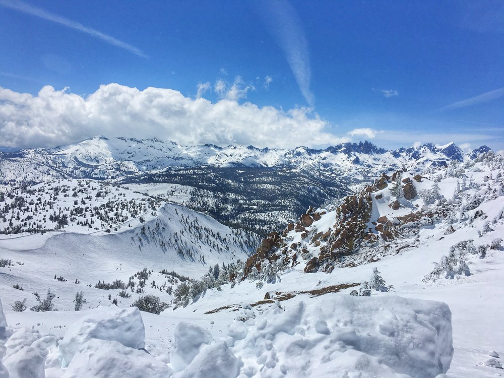 The view from the backside of Mammoth Mountain ski resort at 11,000 feet.