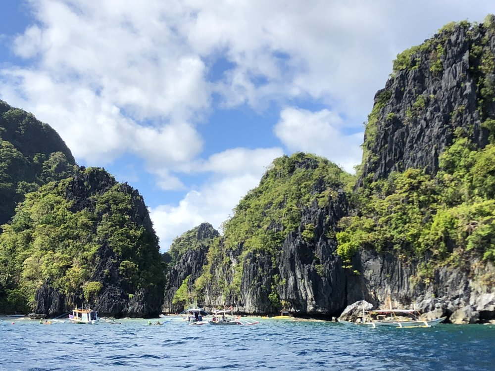 Boats and lagoons, spotted on our way to a dive site near El Nido.