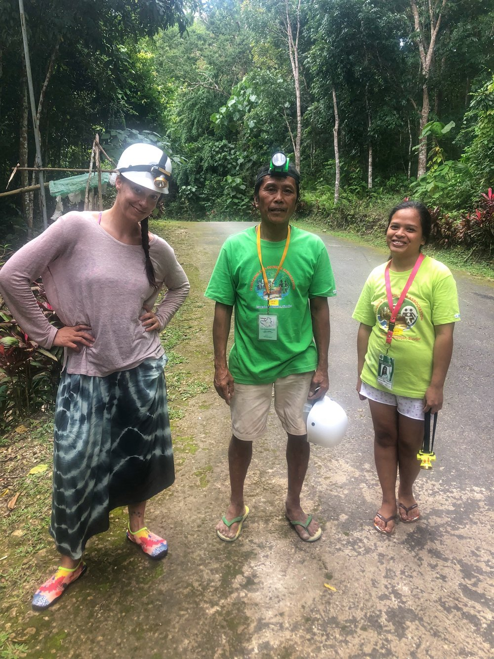 My underdressed caving guides Romy and Lovely. How they kept their sandals on is beyond me.