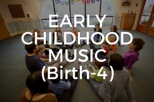 Based on John Feirabend's First Steps in Music curriculum, our Early Childhood Music Education program is research-proven and giggle-approved! Students from birth to four years old learn to think melodically, be mindful of a steady beat, and appreciate the art of music through folk songs, classical music, and rhymes. Learn More.