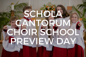 K-12 students are welcome to join us May 24 to experience what chorister life is like in our Choir School!