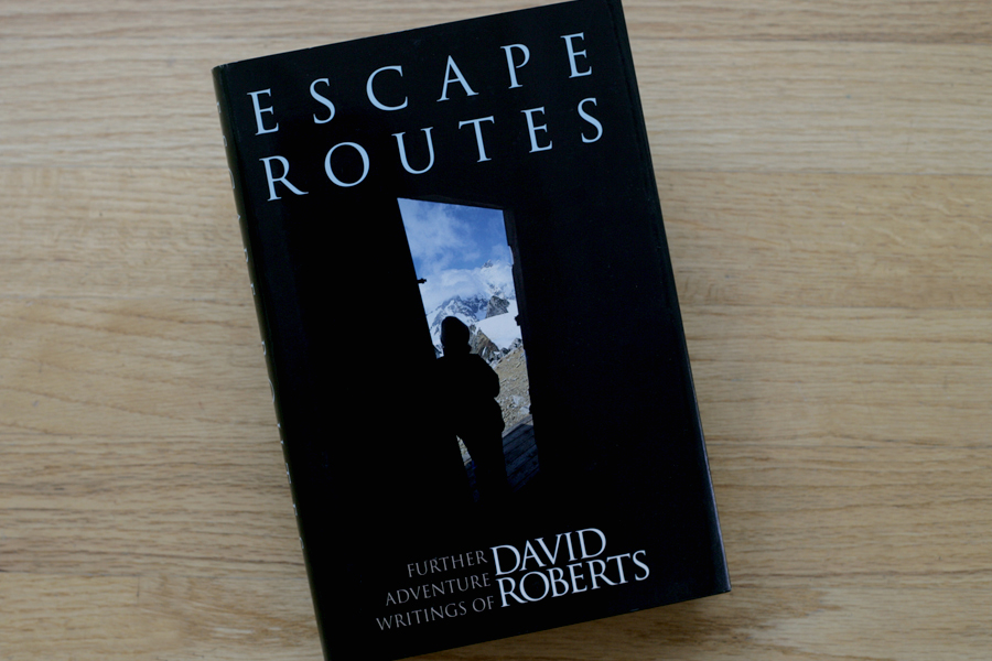 Book cover of David Roberts 'Escape Routes,' for The Mountaineers. Image sourced through stock.