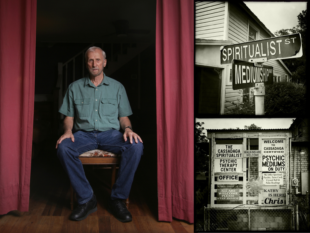 "The Rev. Ed Conklin, one of the psychics in the ""Town of Psychics,"" Cassadaga, Florida."