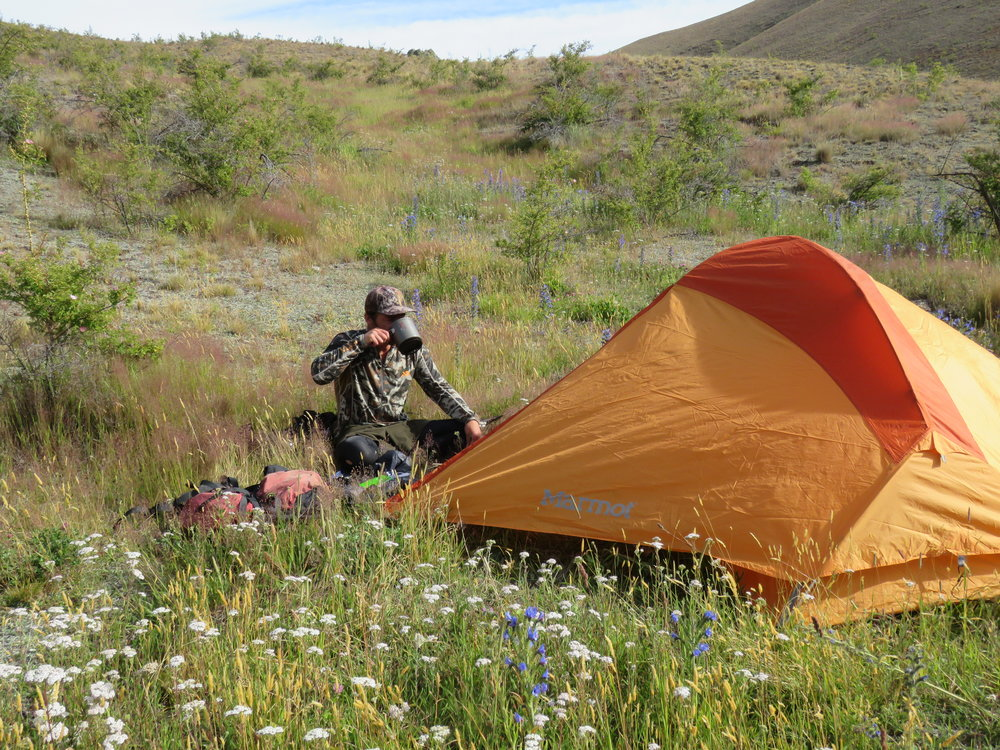 Cam's 10 year old  Marmot 2 man tent  still going strong.
