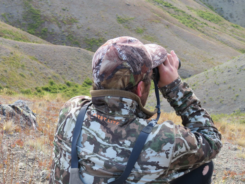 """It seems barren, but there's game to be found. The  First lite """"Halstead"""" tech fleece  mid layer was a comfy functional shirt. The First Lite Fusion camo pattern isn't too bad either."""