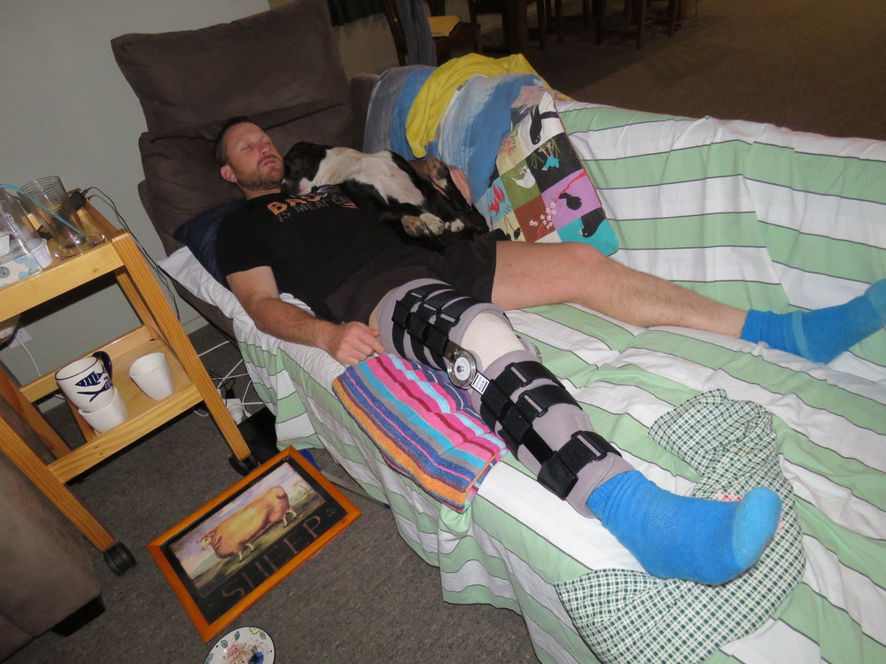 Another knee surgery for the author, weeks off work and months off the hill.