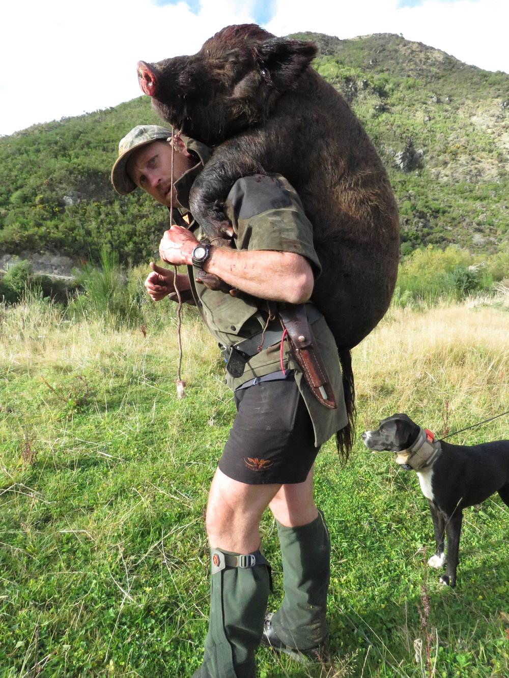Shaun Monk teaching those knee's a lesson.