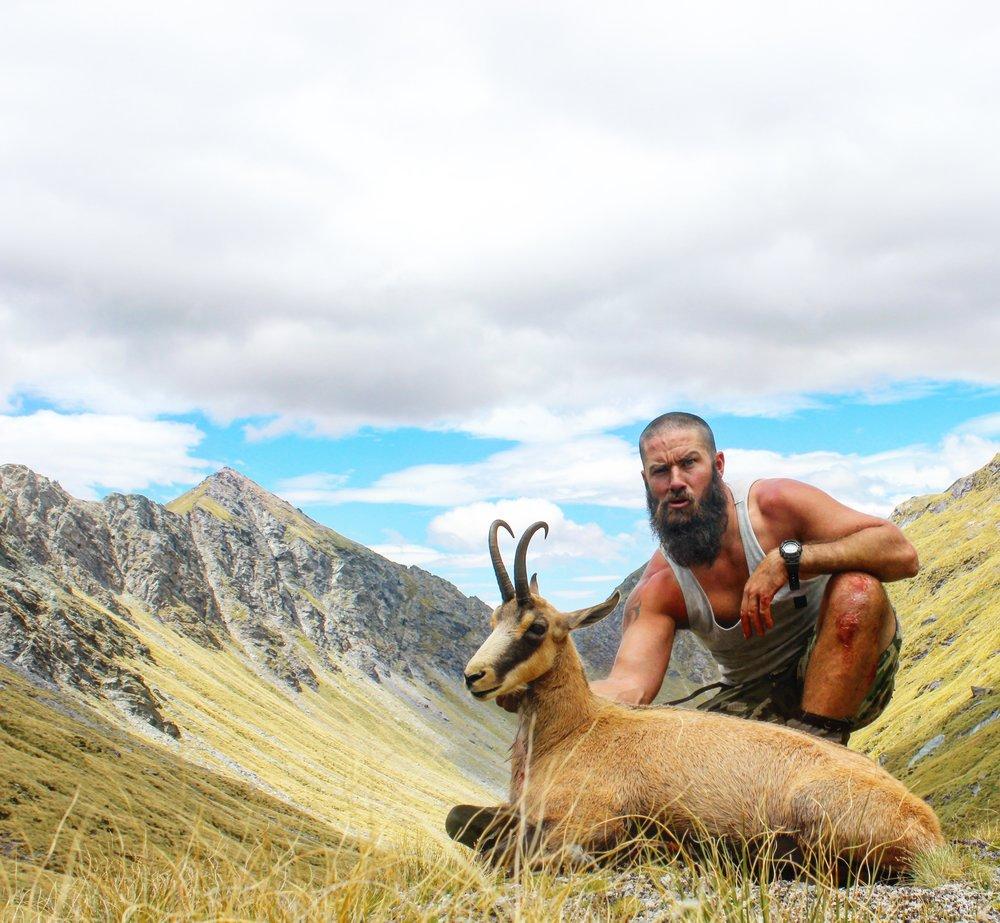 Hugh Bagley with a good summer buck. image @Luke Potts