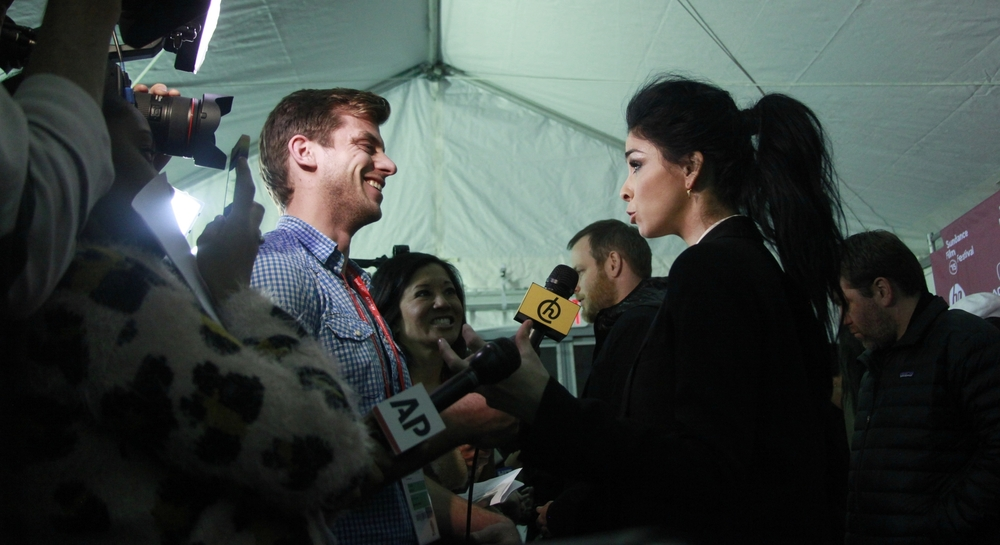Sarah Silverman on the Press Line for I Smile Back at the 2015 Sundance Film Festival.