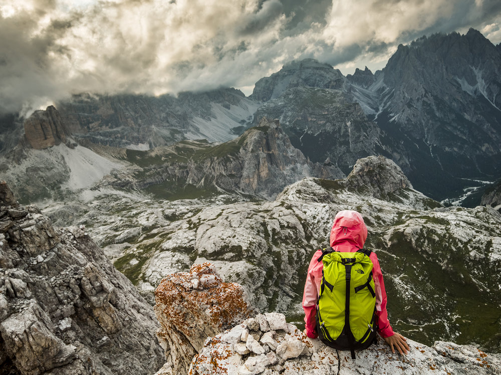 Caroline Ciavaldini. Dolomites, Tre Cime, Italy. Photographer: Tim Kemple.