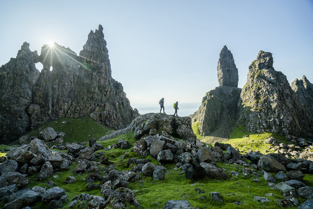 Hillary Allen and Daniel Woods. Isle Of Skye, Scotland. Photographer: Chris Burkard.