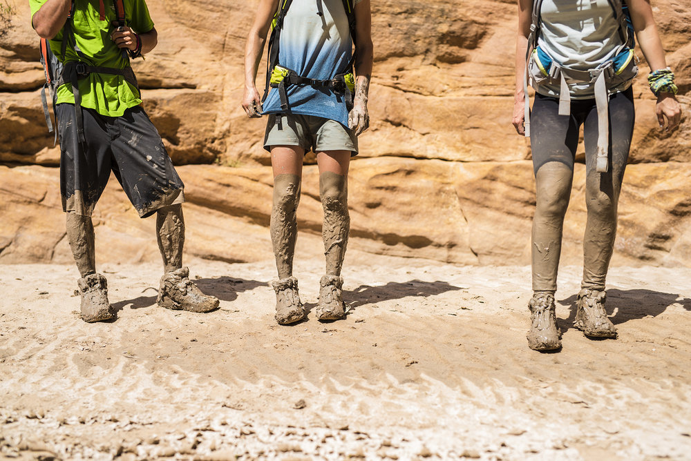 Johnny Collinson, Kaitlyn Farrington and Liz Letchford. The North Face Spring 2016 On-Mountain Sportswear. San Rafael Swell, Utah. Photographer: Tim Kemple.