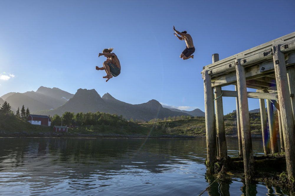 Johnny Collinson and Blake Hendrix. Lofoten, Norway. Photography by Tim Kemple