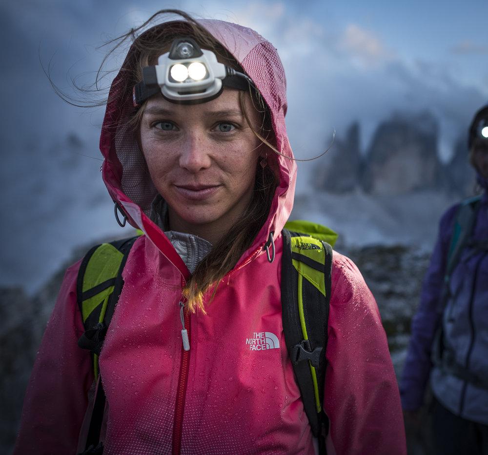 Caroline Ciavaldini. Dolomites, Tre Cime, Italy. Photography by Tim Kemple.