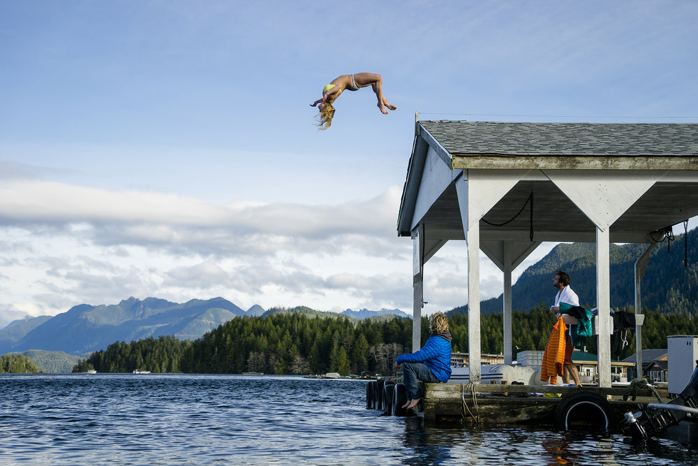 Kaki Orr, David Carrier Porcheron and Callum Pettit. Vancouver Island, British Columbia. Photography by Chris Burkard.