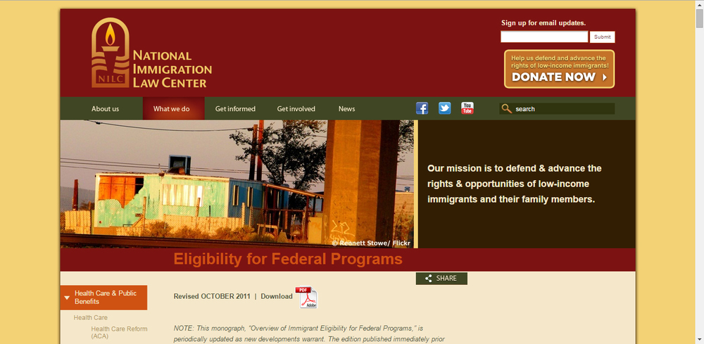 Eligibility for Federal Programs