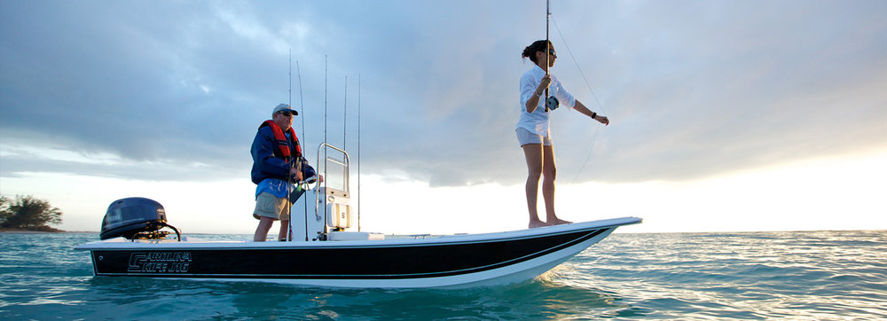 2017 JSeries The J-Series is a great little/fishing run around boat - pure and simple. The J-Series are as stable as they are easy to handle. And with their 100% composite wood free construction, these boats will be around for many years to come.