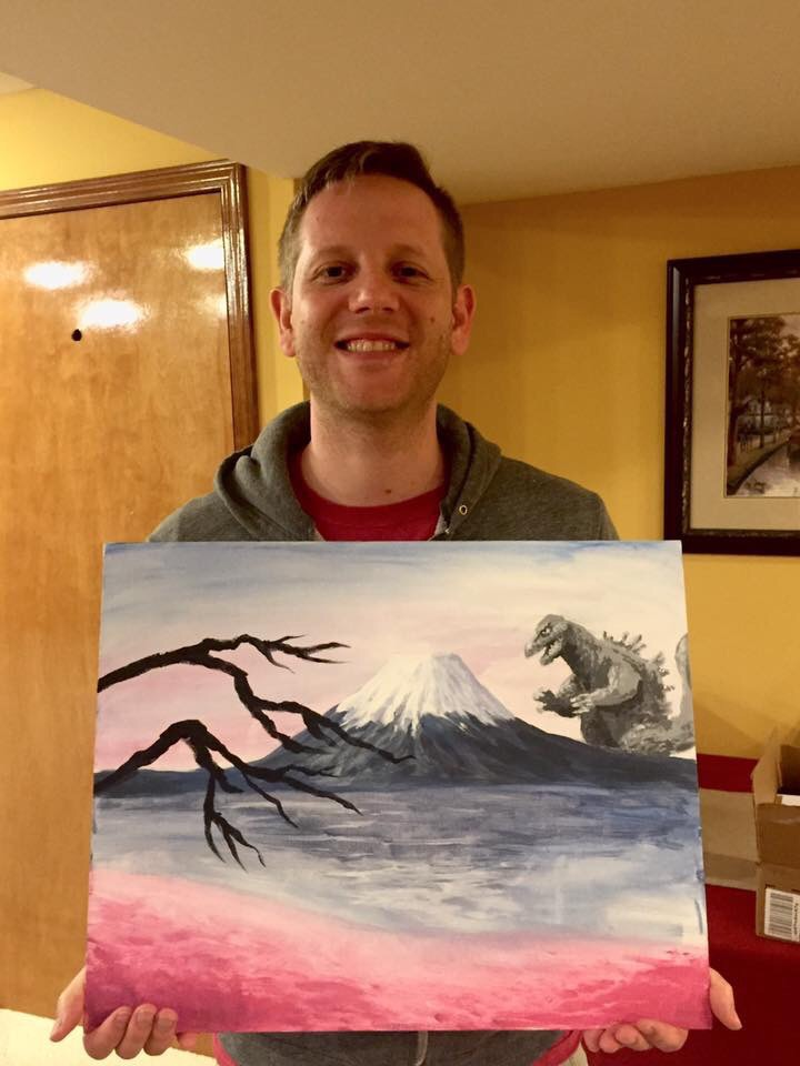 Here's Matt's interpretation of Mt. Fuji :)