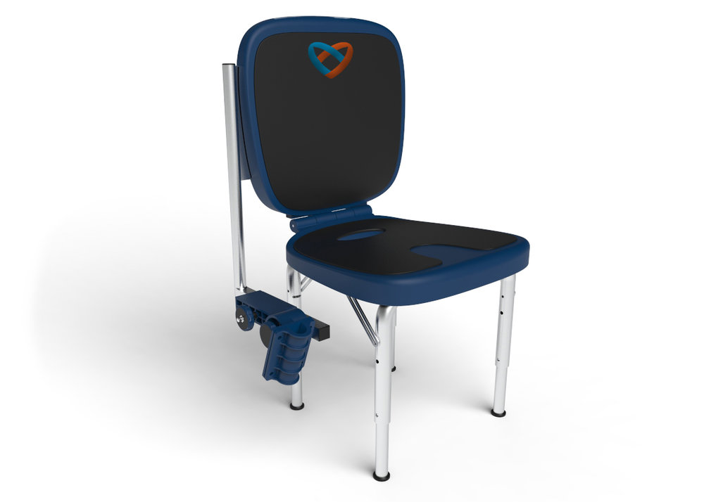 Pre Order Today - I've found whether we're with our children or loved ones at the school bus stop, amusement park, shopping mall, park in the neighborhood or youth sporting event there isn't always a convenient or sanitary place to sit.  Our option is to strap a chair to ourselves, stand or find a place on the curb or ground and that just isn't good enough, I knew there had to be better way.