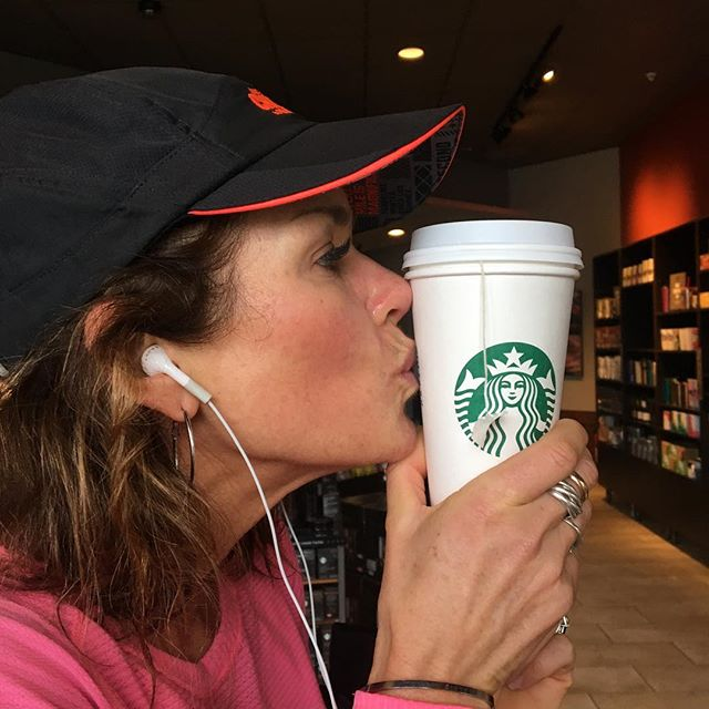 What do you do when your done with your long run but your feeling good? Caffeine up and keep rolling! #bettercrazythanlazy #sweatequity #gogetit #runhappy