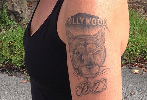 Beth's P-22 tattoo