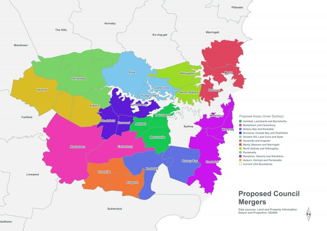 Inner Sydney council forced amalgamations