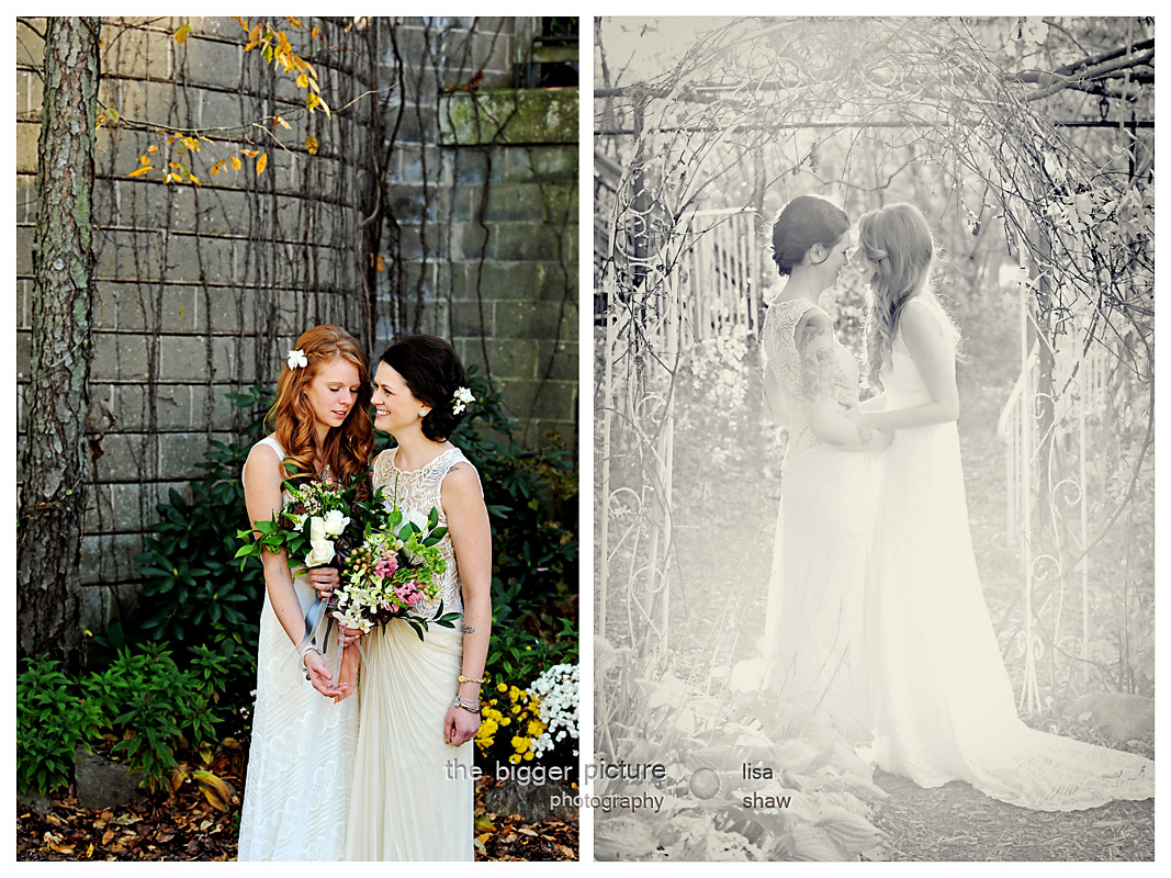 Blue Dress Barn Wedding, Rebecca and Jessica Roost — The Bigger ...
