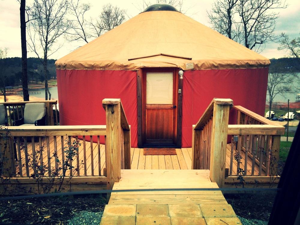 Yurt, sweet yurt.