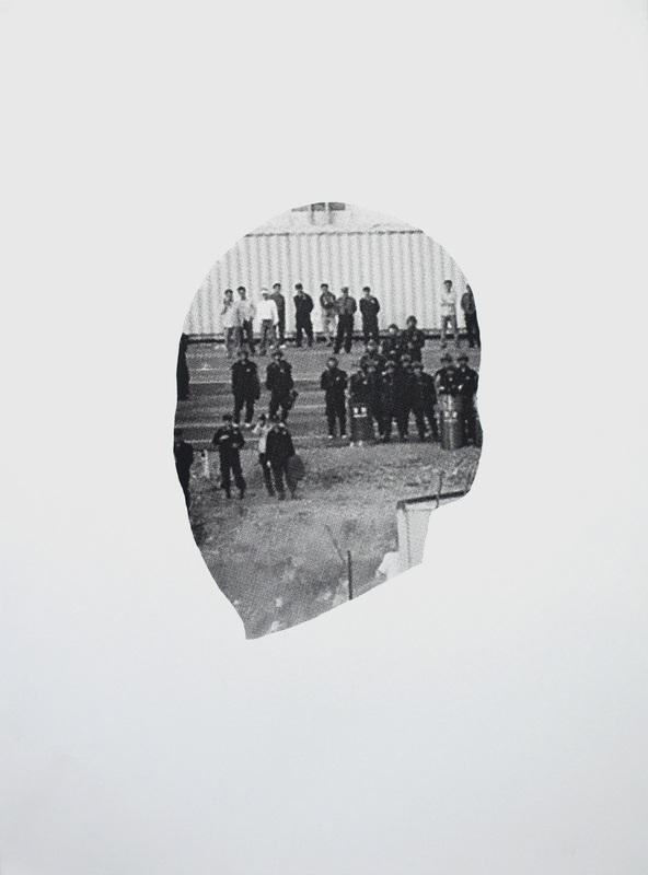 "Binocular  (2015), Screen print on paper, 22"" x 30""(55.88 x 76.2 cm)"