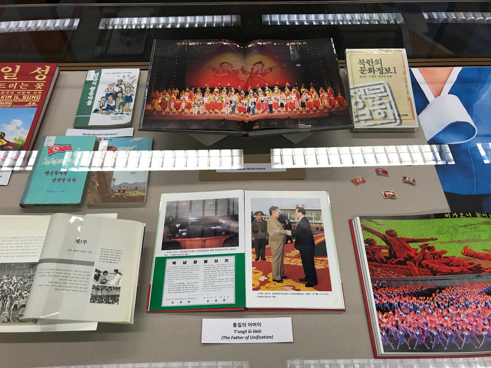 Display View of  (Co)-Humanitarian  Exhibition at the University of Chicago Library.