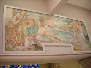 Post Office Mural - There's an interesting story behind the mural hanging in the Tipp City Post Office, located on North Hyatt. This piece of Depression Era artwork, known as Construction of Miami-Erie Canal in Miami City, was painted by Herman Zimmerman. For more information on the mural, please click here. 520 N. Hyatt St., Tipp City, OH 45371.
