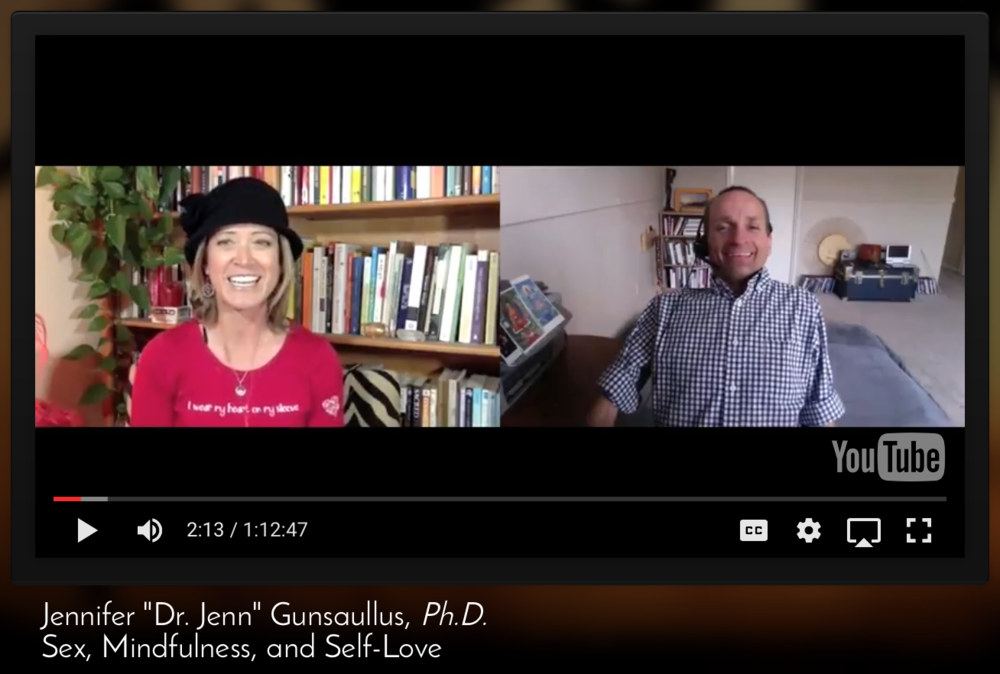 San Diego Sexologist & Sexuality Speaker, Dr. Jenn Gunsaullus, speaking on women & self-love.