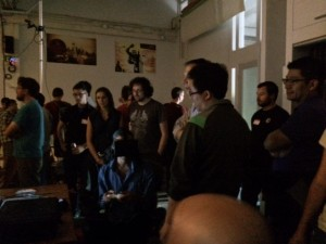 Attendees at VanVR trying our latest video panoramas