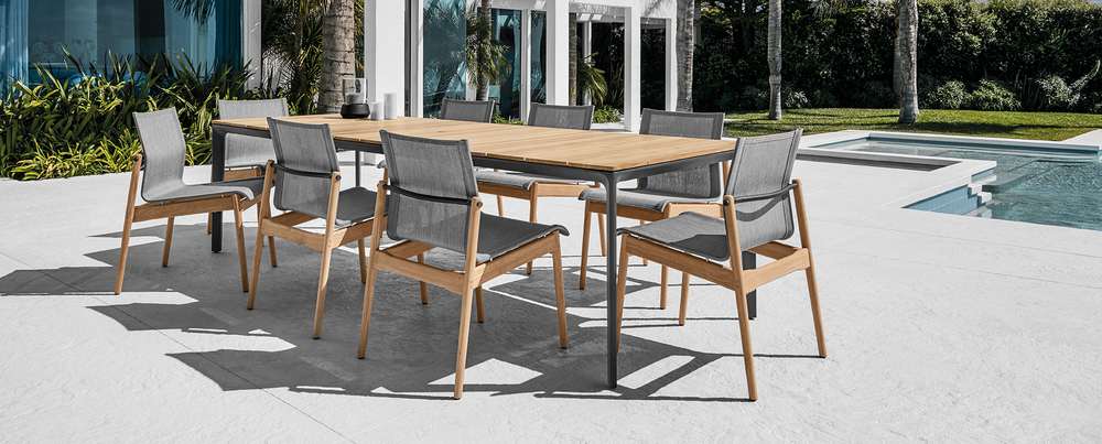 Patio Furniture from Gloster Sway collection