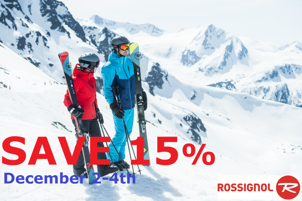 All Rossignol Skis, Boots, Bindings, Bags, XC gear, Poles and more on SALE December 2-4th