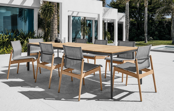 Gloster Carver Table with Sway Side Chairs