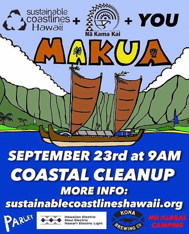 Because We Care About Our Planet and We Want to Swim in A Clean Sea... . . Join  @sustainablecoastlineshawaii And all the mermaids  on The Next Cleanup......MAKUA BEACH! . . #repost . . Stoked to be collab'ing with @nakamakai. See you there!! More info in link in profile. #makuacleanup #malamamakua #westsidecleanup #nakamakai #cleanyobeach 🕺🏾:@aaroncharart