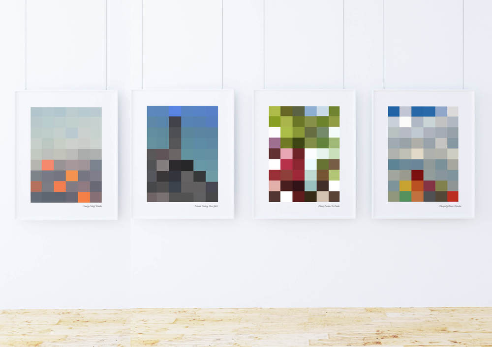 City Block Prints - London UK, New York USA, Colombo Sri Lanka, Mumbai India