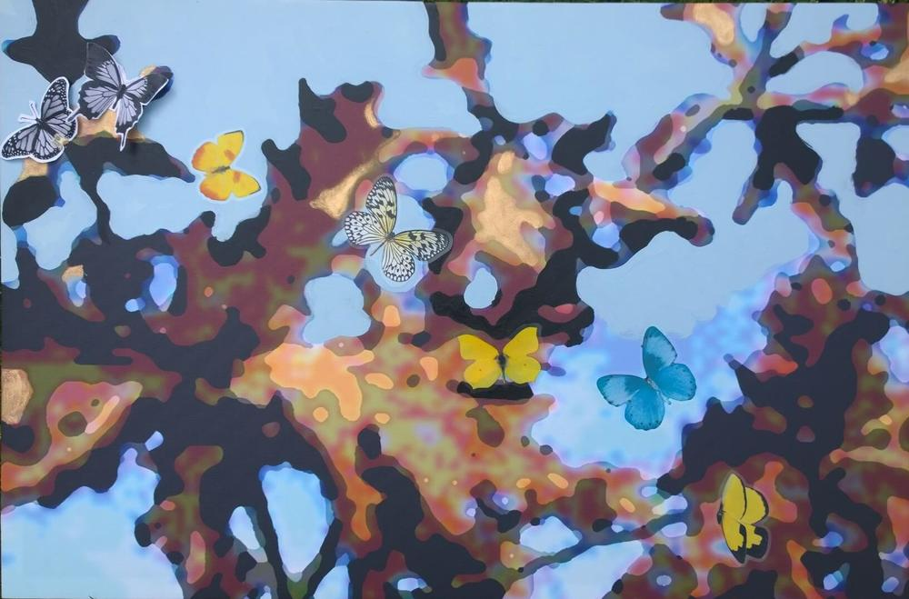 Butterflies on an Ancient Oak
