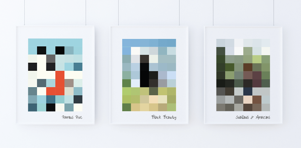 Minecraft Art - A perfect gift for that 'what shall I get my godson' moment.