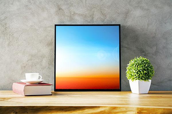 Above:  Dubai Desert  Art For Sale £295 (40x40cm) Framed | Below:  Outer Space  Art For Sale (60x60cm) £395 Framed. Art for Office Wall.