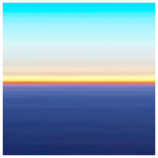 Earth - Fuji Crystal on Acrylic, White Box Framed 60x60cm ) | Price £460 Framed. Print run of 25 | Deep Blue, Orange, Turquoise.