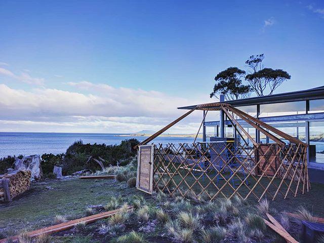 Amazing location! 👌 . . . .  #wedding #yurt #tasmania #getdownandyurty