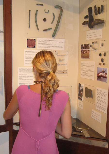 2010. New exhibits are added for the first time in 12 years! In action: Wendy Leicht, member of the 2010 field school.