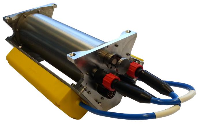 Underwater bathymetric and side scan imaging sonar for ROV and subsea survey
